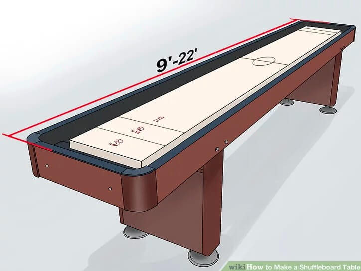 2. DIY Shuffleboard Table