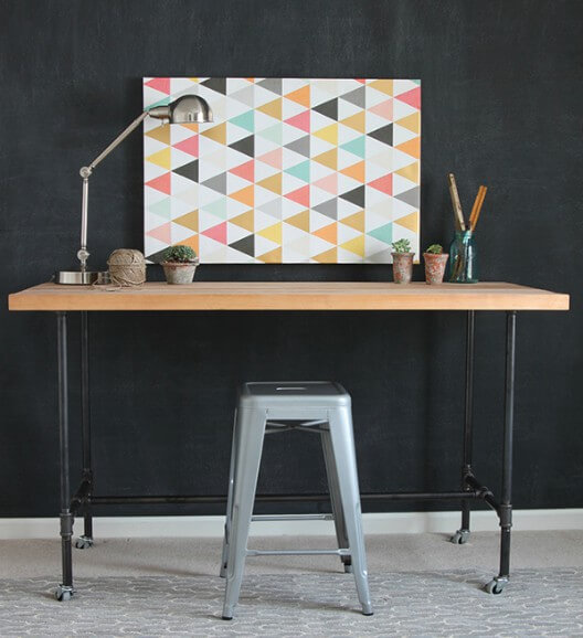 2. How To Build A Workbench With Butcher Block And Pipe