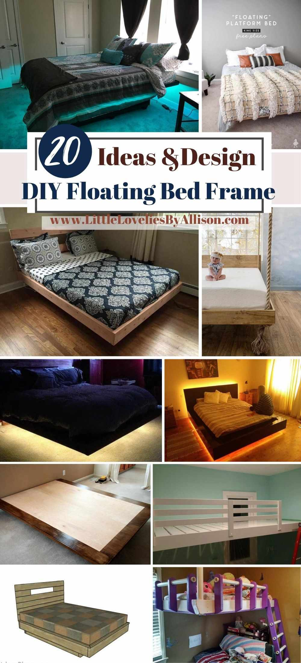 20 Ways To Build A DIY Floating Bed Frame With Ease