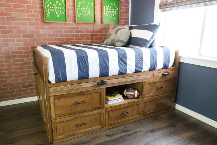 20. DIY Captain's Bed With Storage