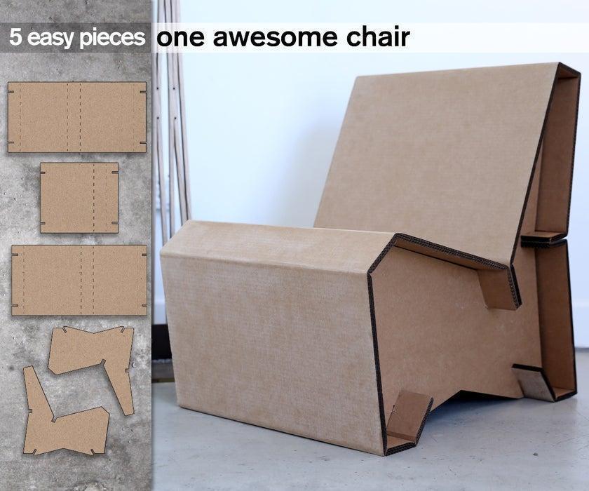 20. DIY Cardboard Lounge Chair