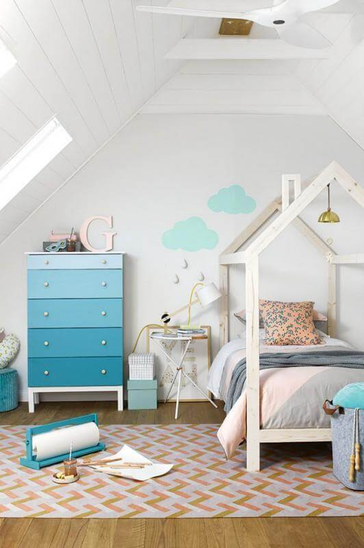 20. DIY House Frame Twin Bed