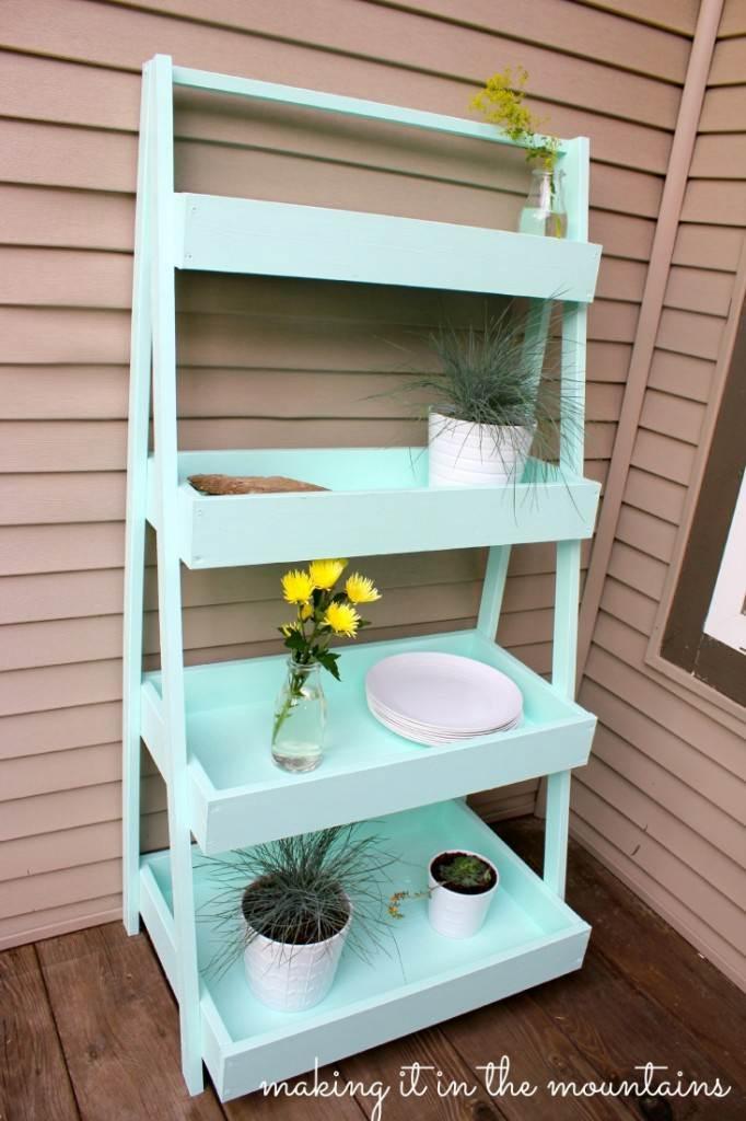 20. DIY Ladder Shelf