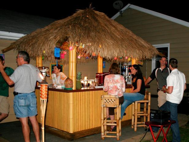 20. How To Build A Tiki Bar With Thatched Roof
