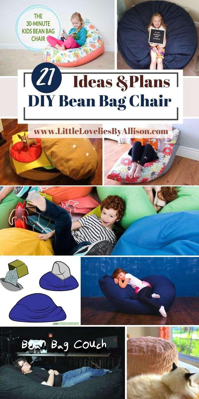21 DIY Bean Bag Chair Ideas_ Do It Yourself Easily