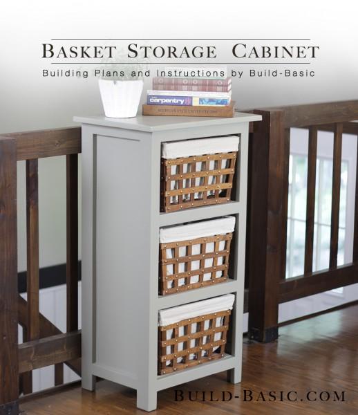 21. DIY Basket Storage Cabinet