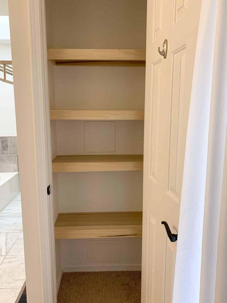 21. DIY Closet Shelves