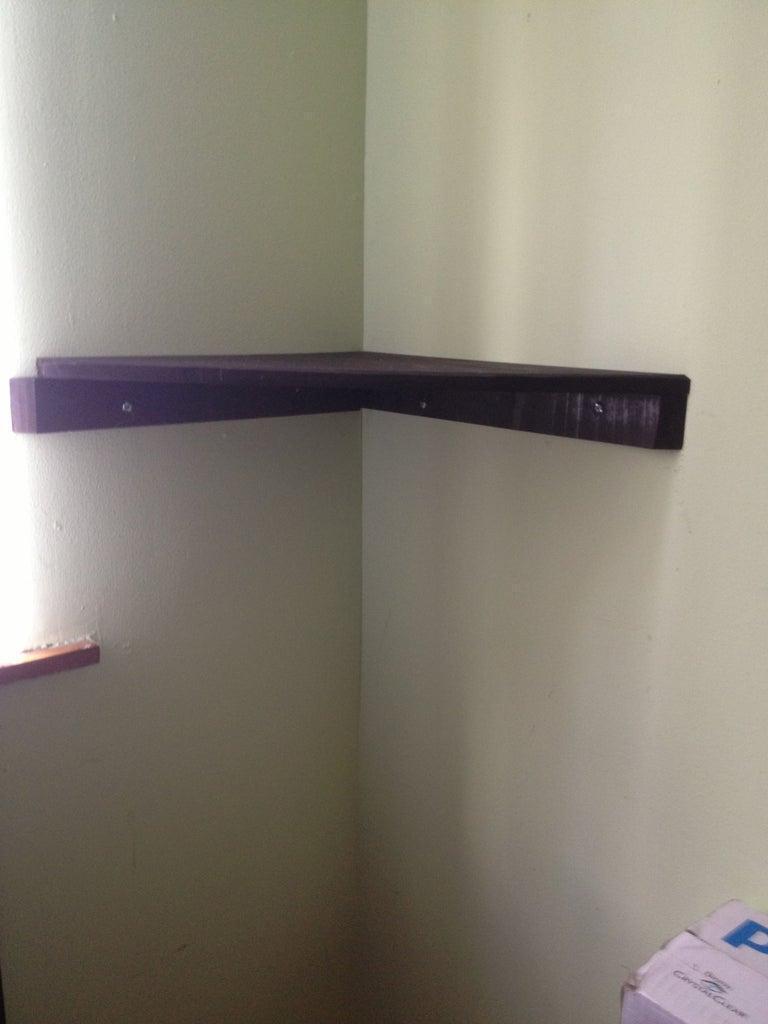 21. DIY Corner Shelves