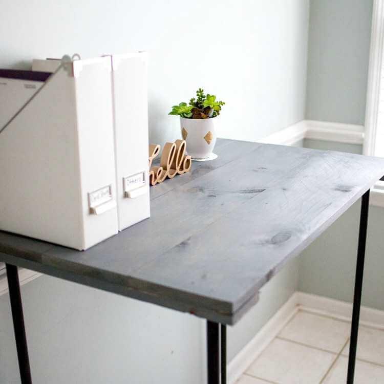 21. DIY Industrial Pipe Desk