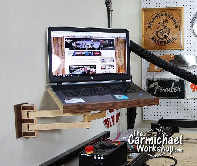 21. DIY Laptop Wall Mount