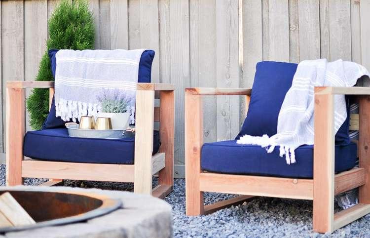 21. DIY Modern Outdoor Chair
