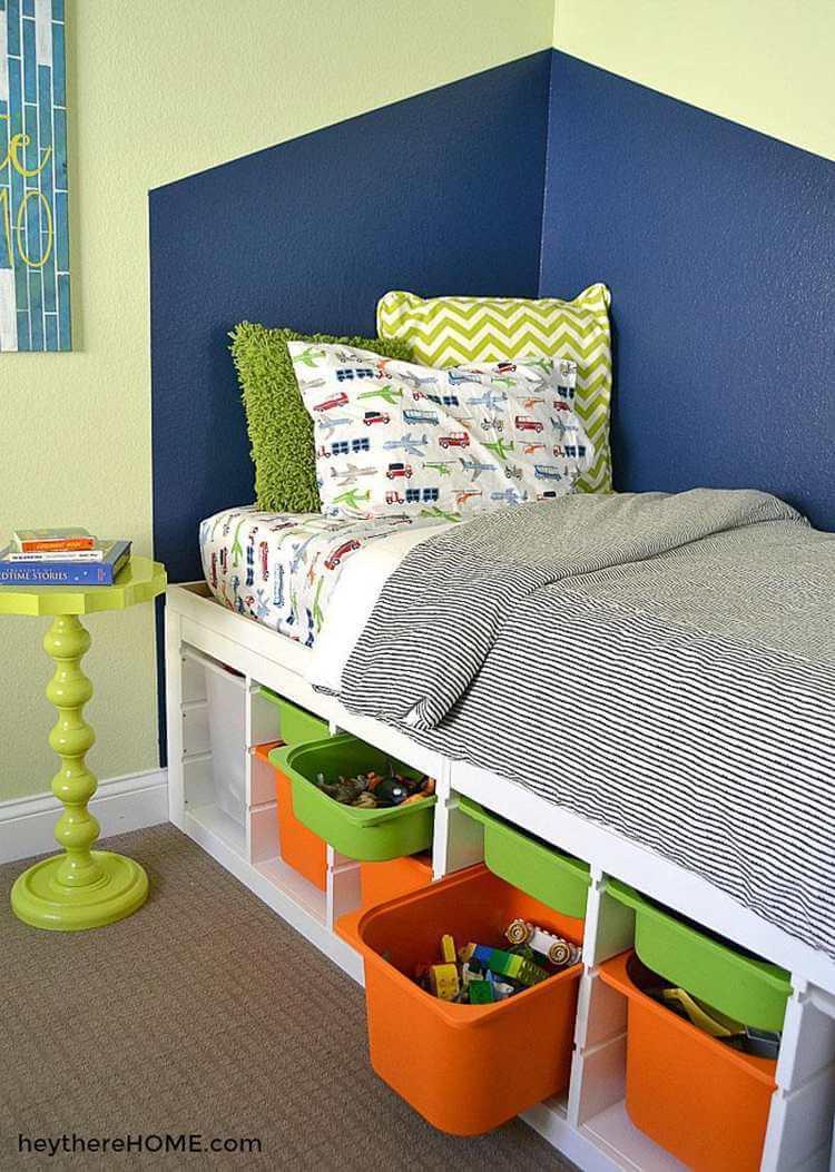 21. DIY Storage Bed For Kids