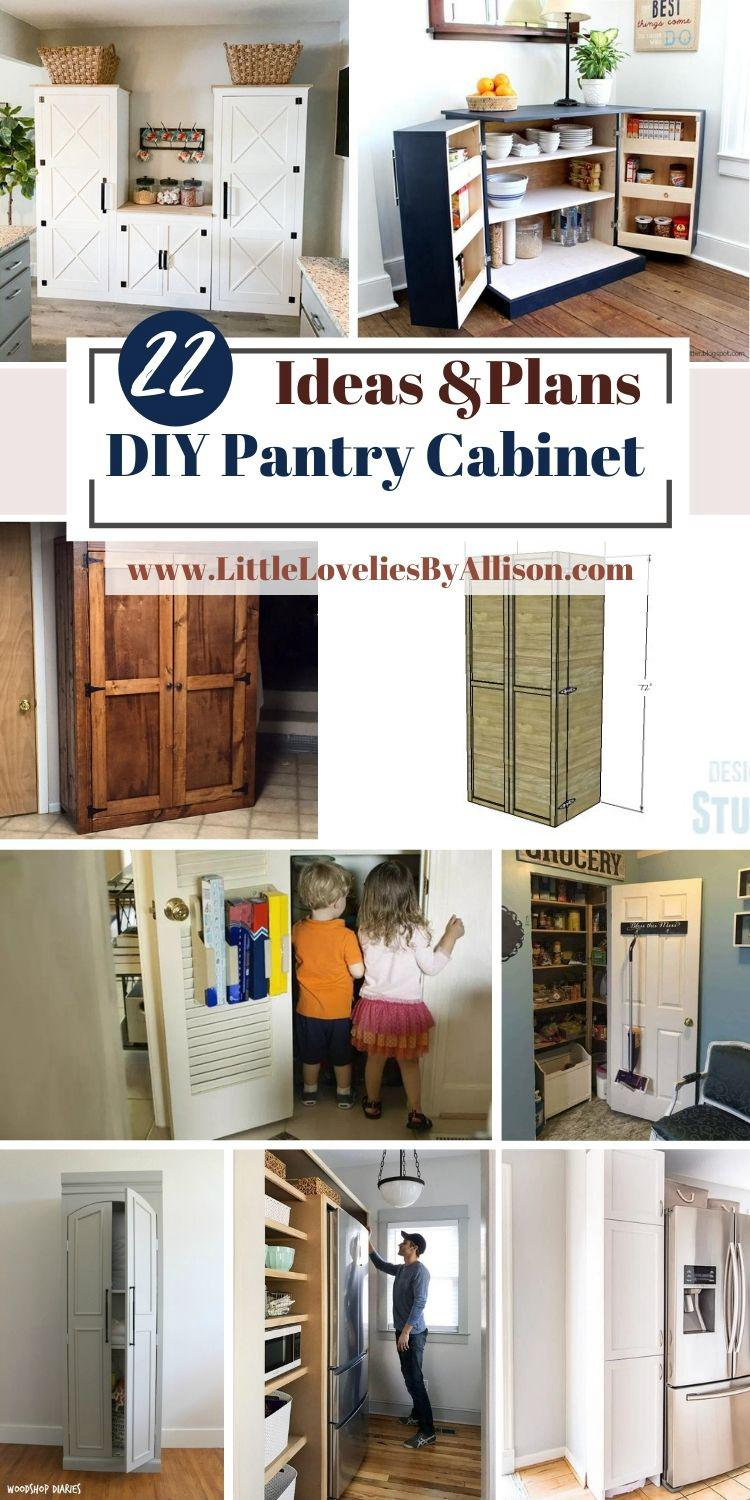 22 DIY Pantry Cabinet Plans_ How To Build A Pantry Cabinet