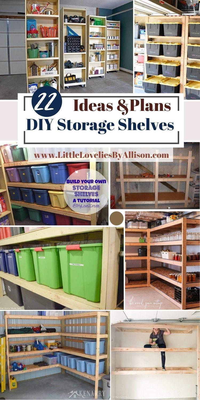 22 DIY Storage Shelves Plans_ How To Build A Shelf For Storage