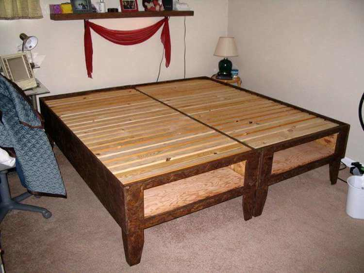 22. DIY Bed With Storage