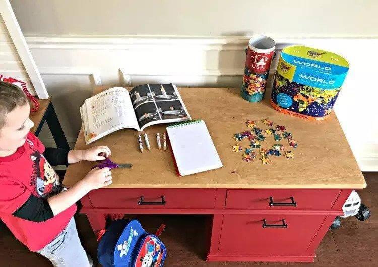 22. DIY Children's Desk Plans With Storage