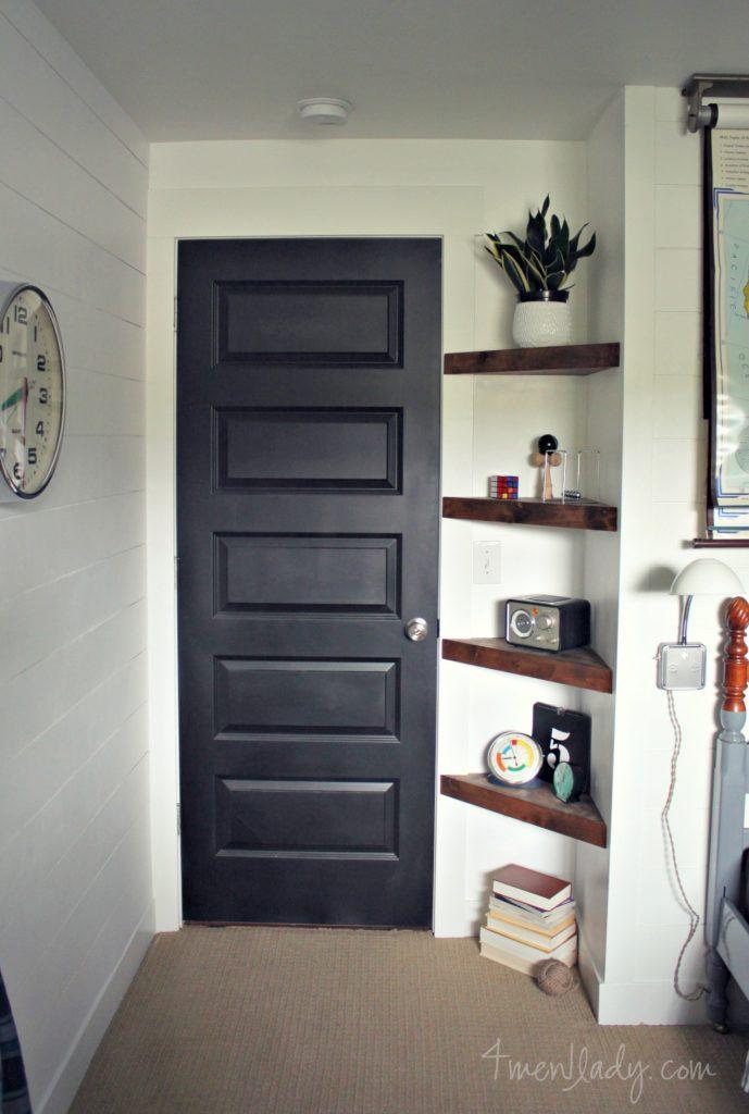 22. DIY Corner Shelves On A Budget
