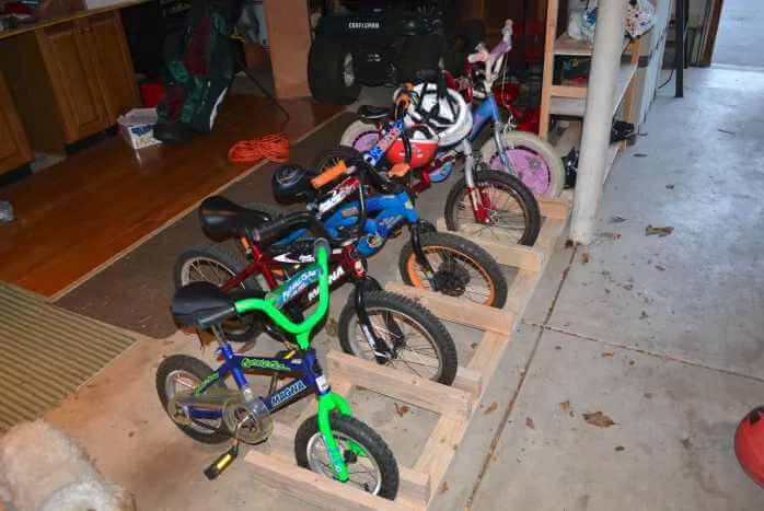 22. DIY Garage Bike Rack