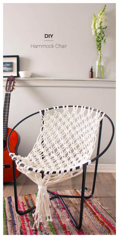 22. DIY Macrame Hammock Chair Swing