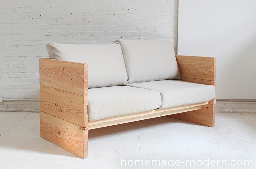 22. DIY Modern Box Sofa