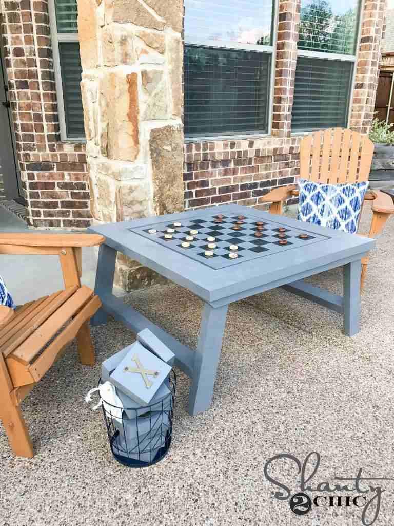 22. DIY Outdoor Gaming Table