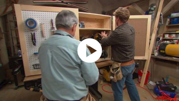 22. DIY Tool Storage Cabinets