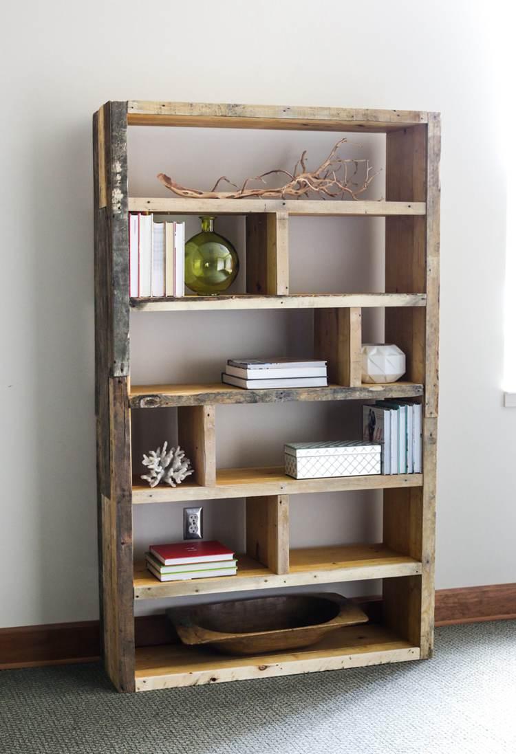22. Reclaimed Pallet Bookshelf