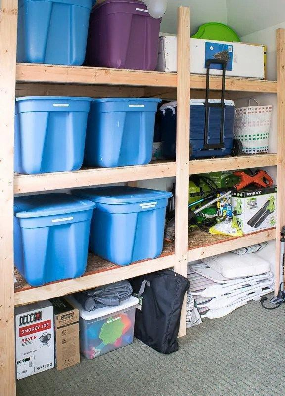 23. DIY Garage Shelves With Plans