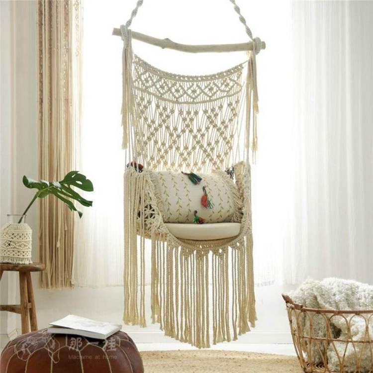 23. DIY Macrame Hanging Chair
