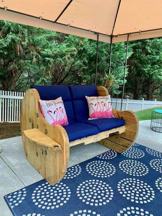 23. DIY Outdoor Sofa
