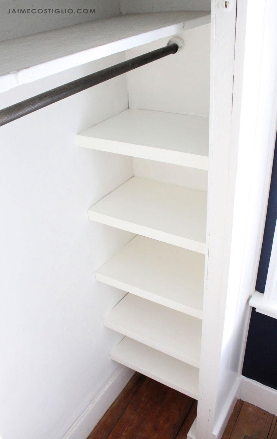 23. DIY Simple Closet Shelves