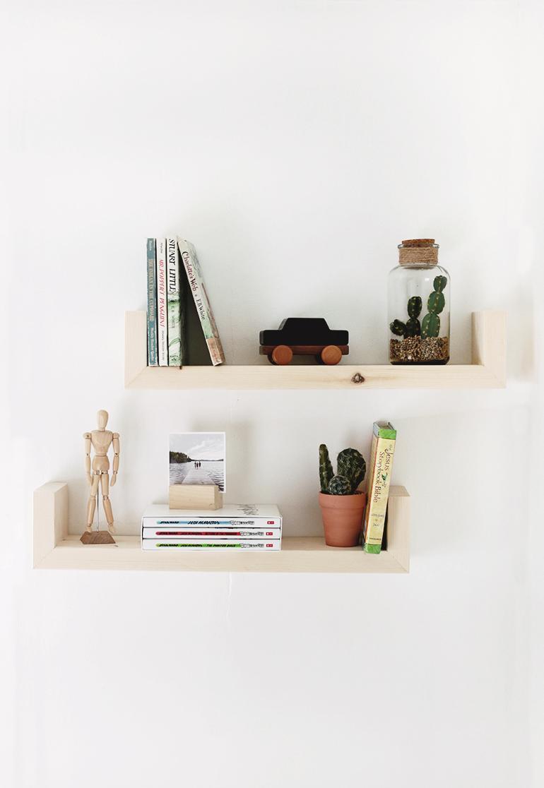 23. DIY Wood Shelves