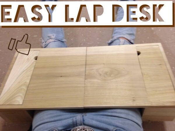 23. Homemade Easy Lap Desk