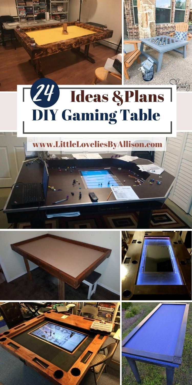 24 DIY Gaming Table Plans_ Do It Yourself Easily