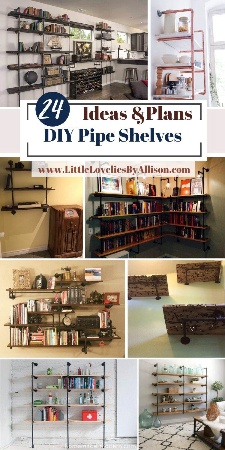 24 DIY Pipe Shelves_ How To Make An Industrial Pipe Shelf