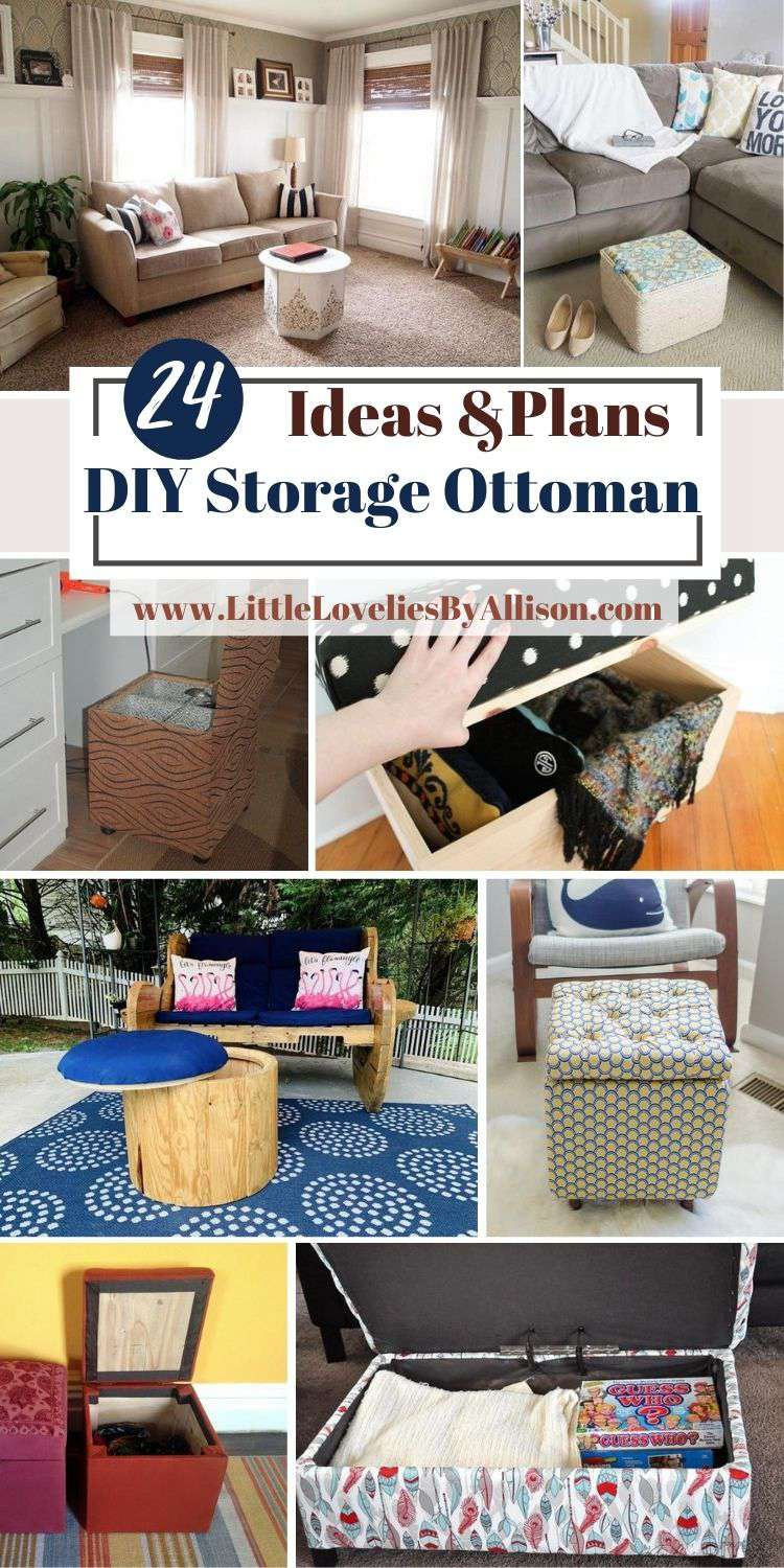 24 DIY Storage Ottoman Ideas You Can Make From Home
