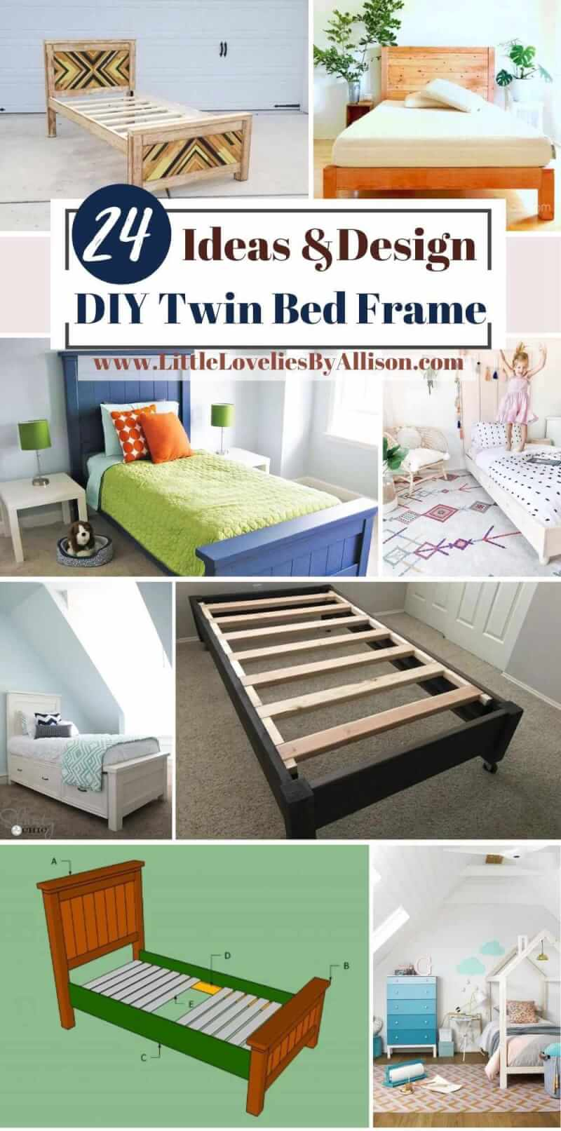 24 DIY Twin Bed Frame Plans_ How To Build A Twin Bed