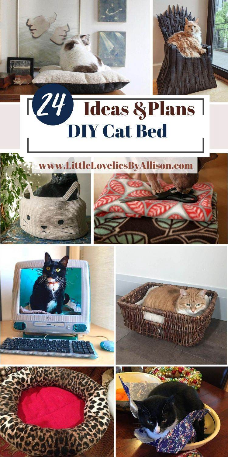 24 Ways To Make A DIY Cat Bed From Home