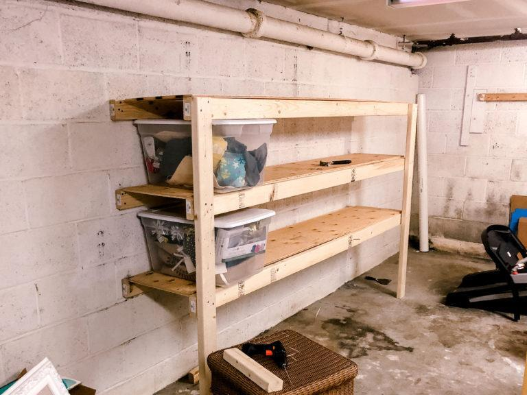 24. DIY $40 Garage Shelf Plans