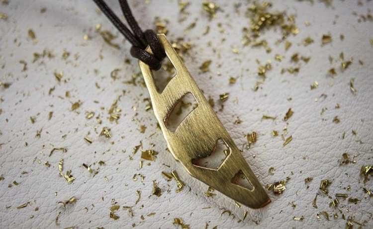 24. DIY Brass Necklace