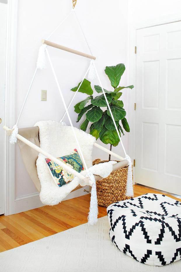 24. DIY Hanging Hammock Chair