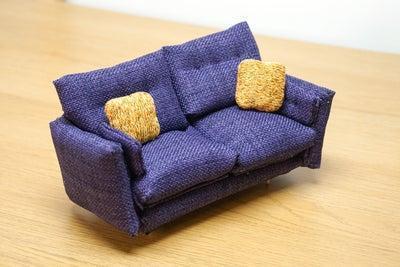 24. DIY Miniature Sofa