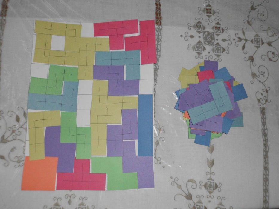 24. DIY Tetris Board Game