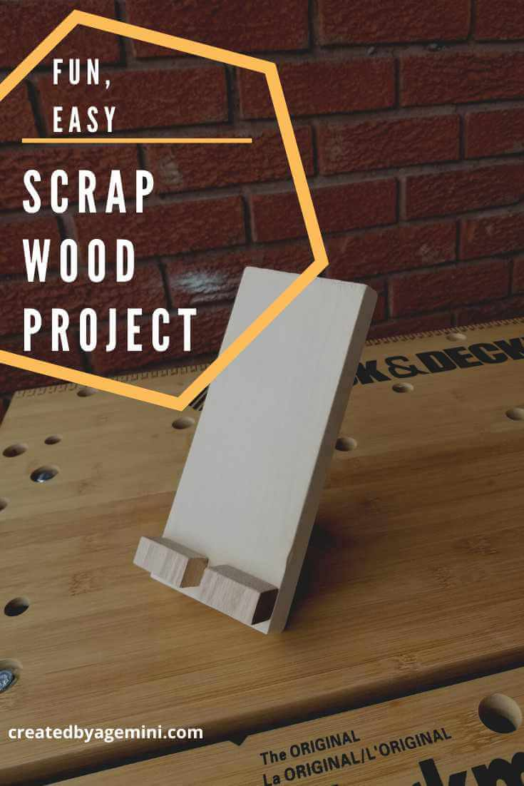 24. DIY Wooden Phone Stand