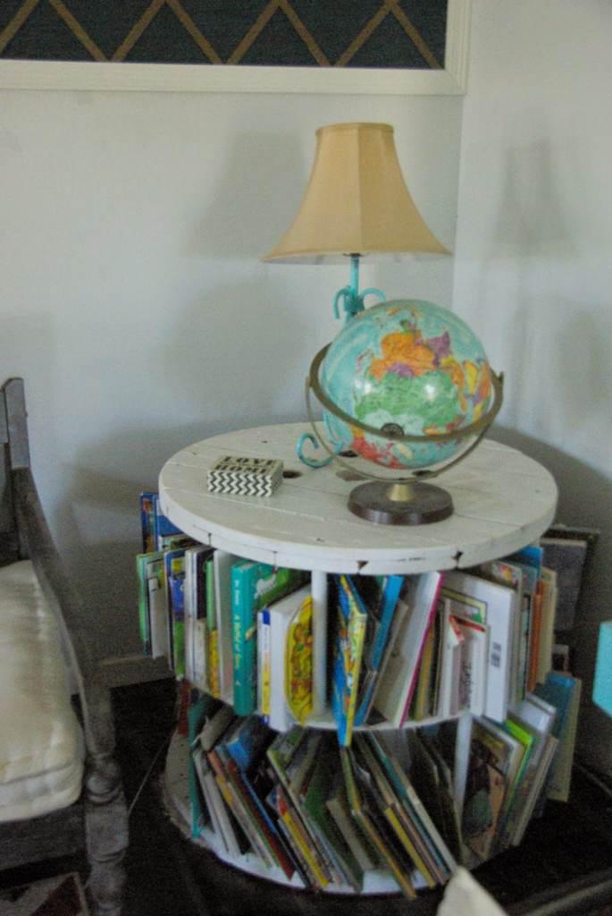 24. Old Spool Redo Bookshelf