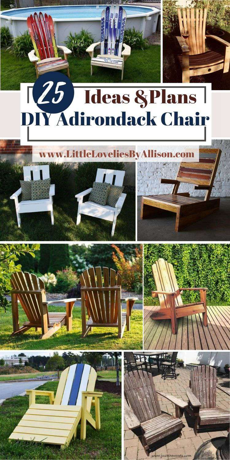 25 DIY Adirondack Chair Plans That You Can Make Easily