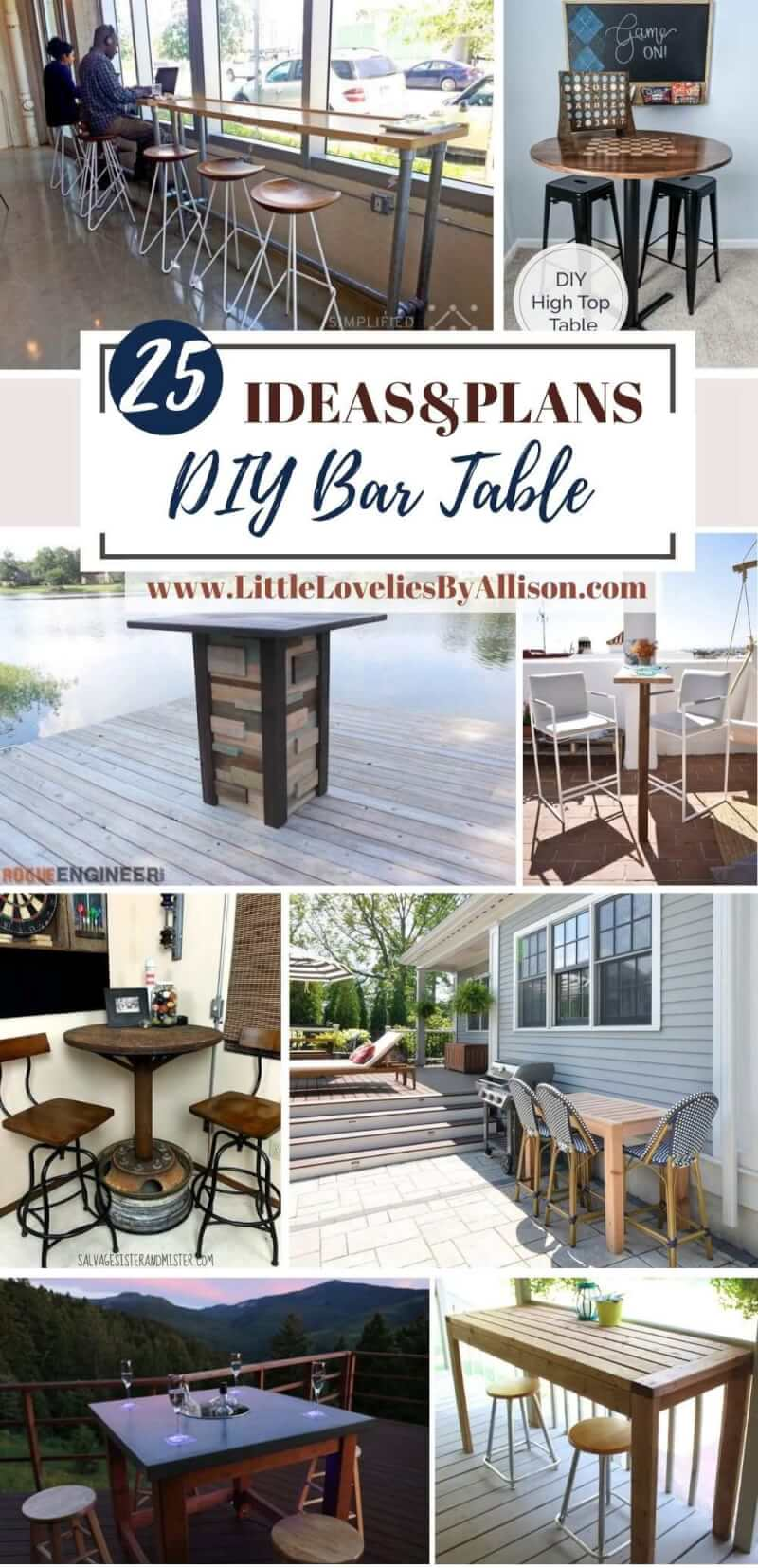 25 DIY Bar Table Projects_ How To Make A Bar Table