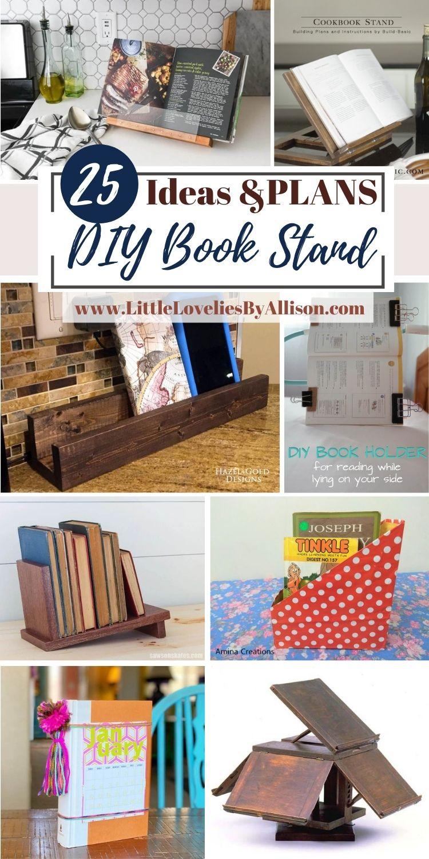 25 DIY Book Stand Hacks Using Household Materials