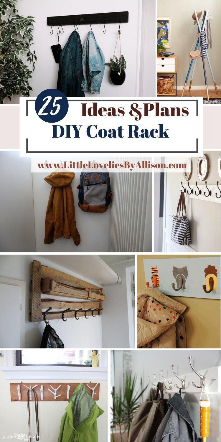 25 DIY Coat Rack Projects That You Can Make In A Jiffy