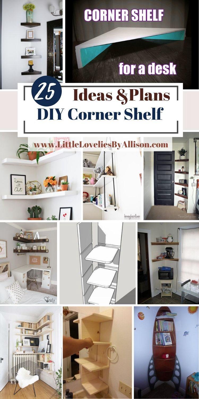 25 DIY Corner Shelf Ideas How To Build Corner Shelves